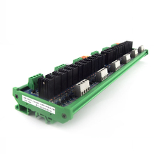 цена на PLC DC amplifier board 24 way contactless relay output short circuit protection optocoupler isolation industrial control board