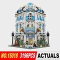 Новый 3196 шт. Лепин 15018 MOC Создатель Город Серии Sunshine Hotel Набор Строительных Блоков Кирпичи Игрушки