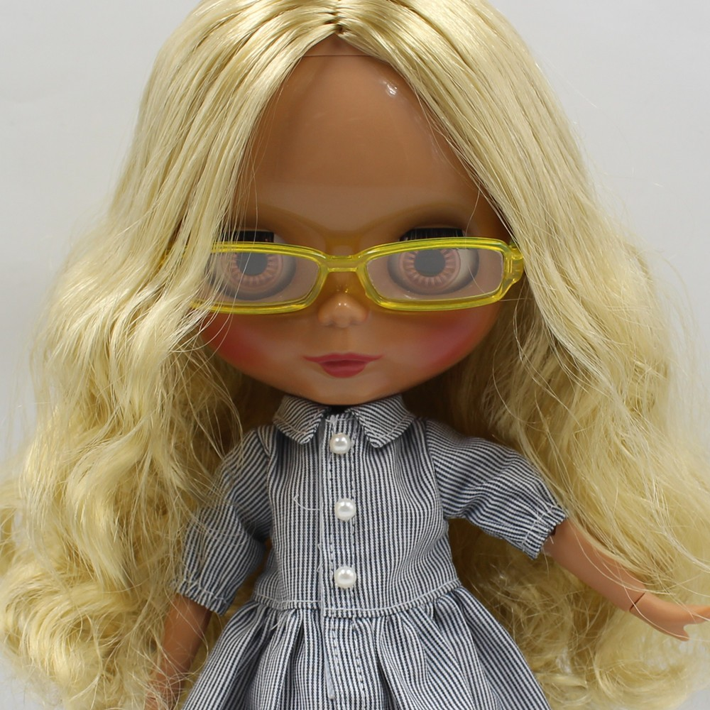 Neo Blythe Doll Heart & Boxes Shaped Glasses 12