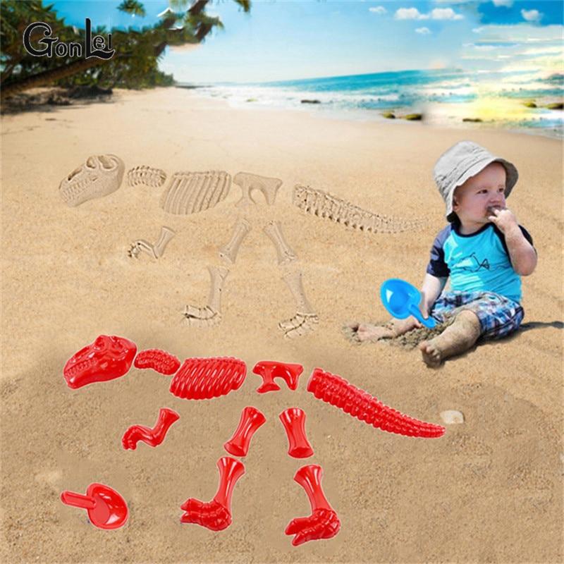 1 Set Sandbeach Funny Sand Mold Triceratops Tyrannosaurus Rex Dinosaur Skeleton Bones Beach Toy Summer Toys Best Gifts For Kids
