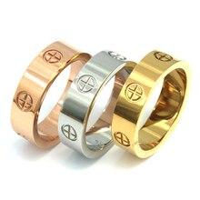 PZ нержавеющая сталь высокое качество для женщин и мужчин ювелирные изделия любовь кольца роскошные свадебные bijoux пара влюбленных кольца