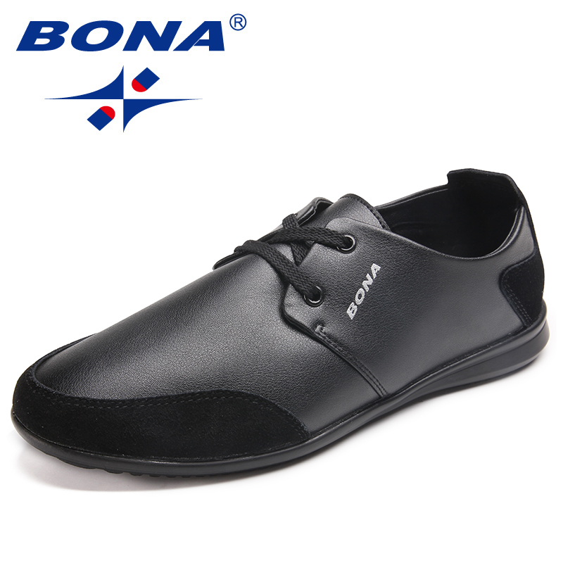 BONA New Arrival Typical Style Men Casual Shoes Lace Up Men Loafers Microfiber Men Flats Comfortable