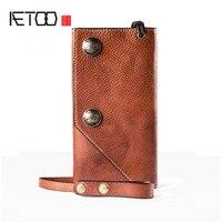 AETOO Men S Wallet Tide Men S Handbag Full Leather Men S Leather Long Section Of