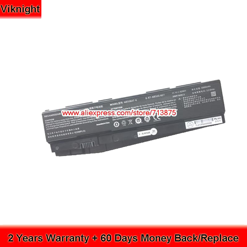 Genuine Clevo N850 N850HK1 N850HJ1 N850HC N870HK1 N850BAT-6 Laptop Battery топор truper hc 1 1 4f 14951