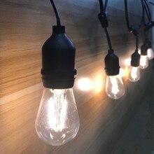 IP65 商業グレード 15 メートル 15 電球 LED ストリングライト屋外 S14 LED レトロエジソンのフィラメント電球ガーデン休日の結婚式ライト
