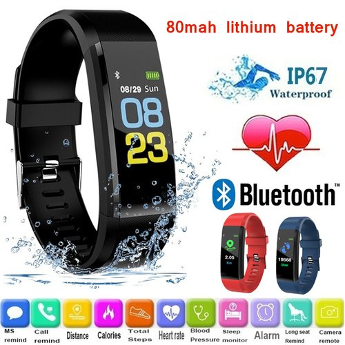 115 PLU Waterproof Sport Smart Women Heart Rate Fitness Tracker Smart Wristbands For Android IOS Smart Watches Relogio