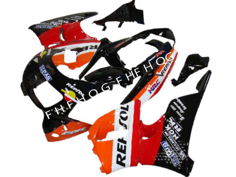 Kit de carénage d'usine ABS pour HONDA 1996 1997 CBR900RR CBR 893RR 96 97 moto CBR 893 carénage repsol Orange