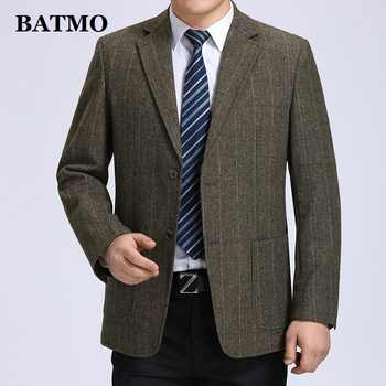 Batmo 2019 new arrival high quality wool smart plaid casual blazer men,men's casual suits,men's jackets plus-size S-3XL 606 - DISCOUNT ITEM  40% OFF All Category