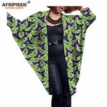 Купить с кэшбэком 2017 fashion African women bat coat AFRIPRIDE private custom Autumn casual female cloak coat super batik cotton plus sizeA722416
