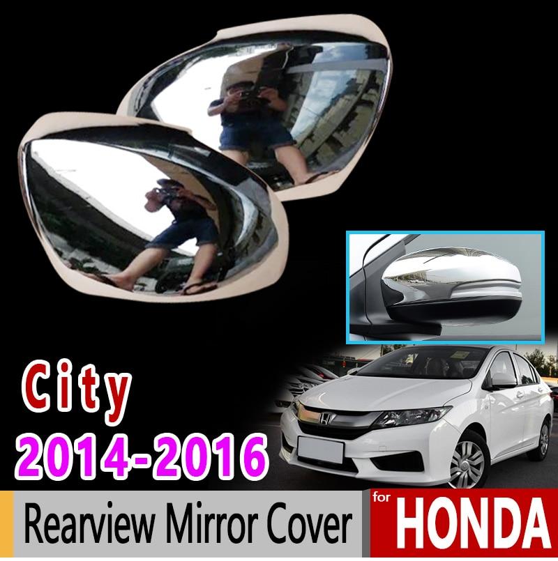 Pour Honda City GM6 Grace Ballade 2014 2015 2016 2017 2018 Chrome fibre de carbone rétroviseur accessoires voiture autocollant