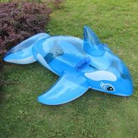 Giant Blue Whale Inflatable Outdoor Summer Children's Ride on Beach Floating Boat Outdoor Toy Swimming Ring Pool Ride on Toy