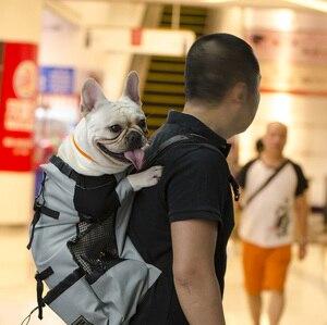 Image 2 - 通気性のペット犬大型犬ゴールデンレトリバーのためのブルドッグリュック調節可能なビッグ犬の旅行用バッグペット製品