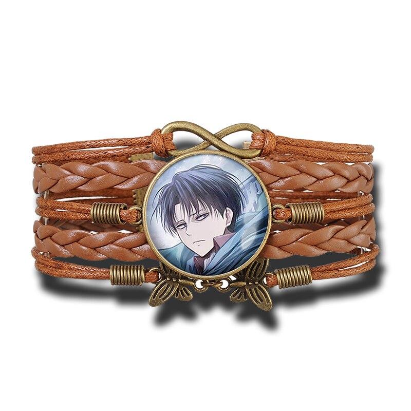 Attack on Titan Brown Leather Bracelet