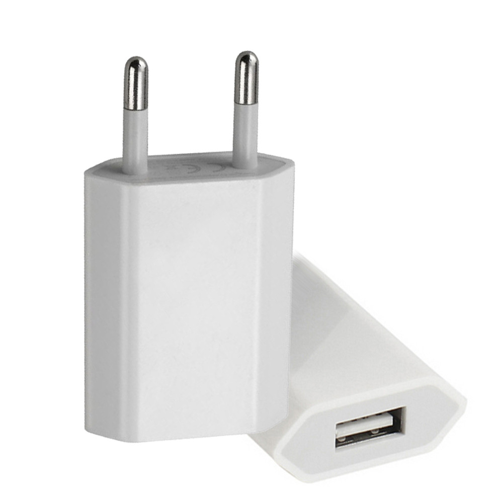 Mobile Phone Charger USB Power Adapter EU Plug Wall Travel