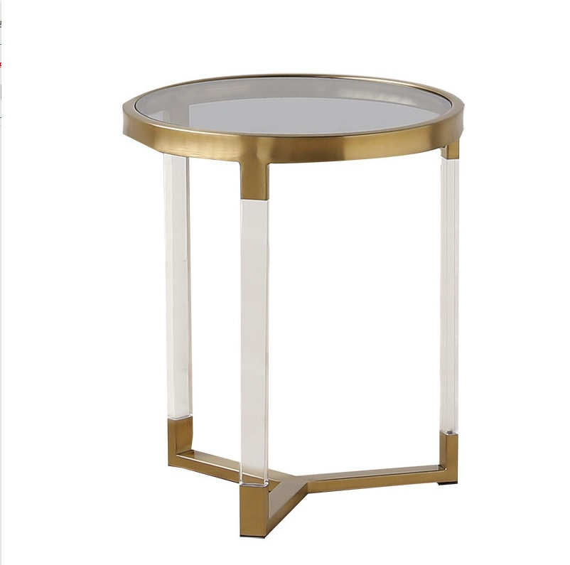 2pcs PACK Round Coffee Table / 57cm +50cm High / Gold