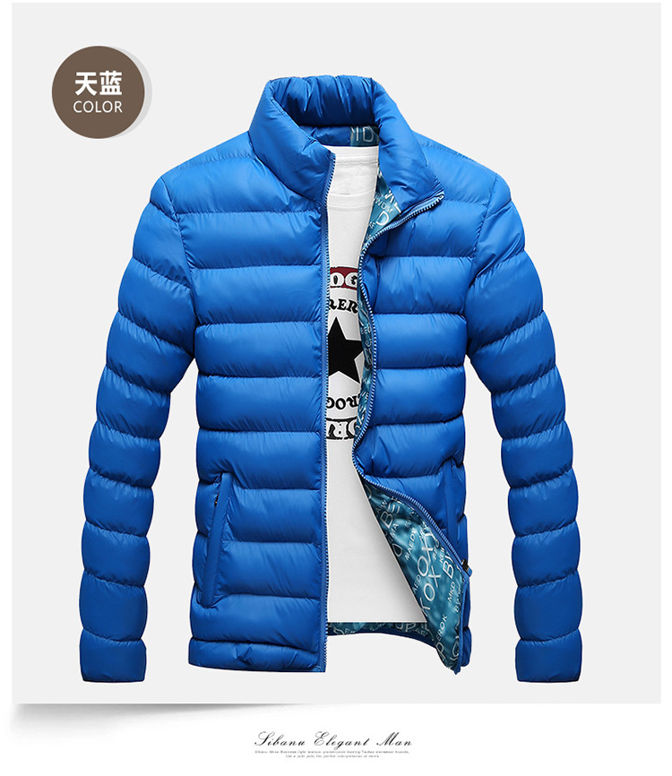 Winter Jacket Men 2019 Fashion Stand Collar Male Parka Jacket Mens Solid Thick Jackets and Coats Man Winter Parkas M-6XL 18