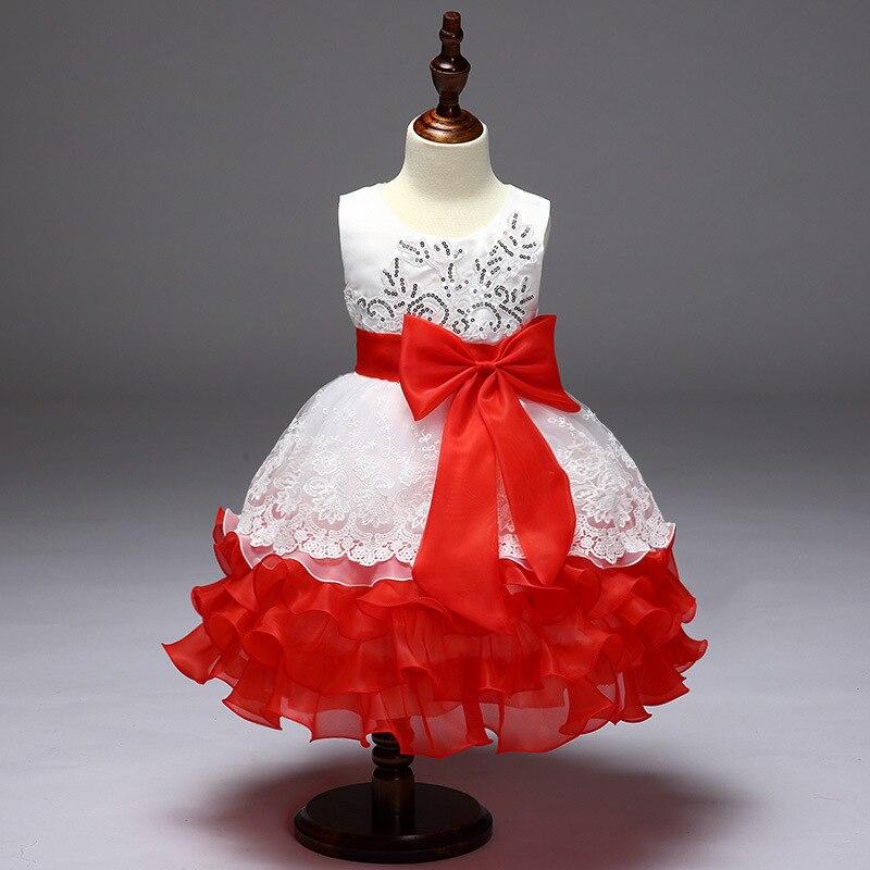 mooie avond diner jurk kinderen meisje bloem jurk bladerdeeg prinses - Kinderkleding - Foto 6