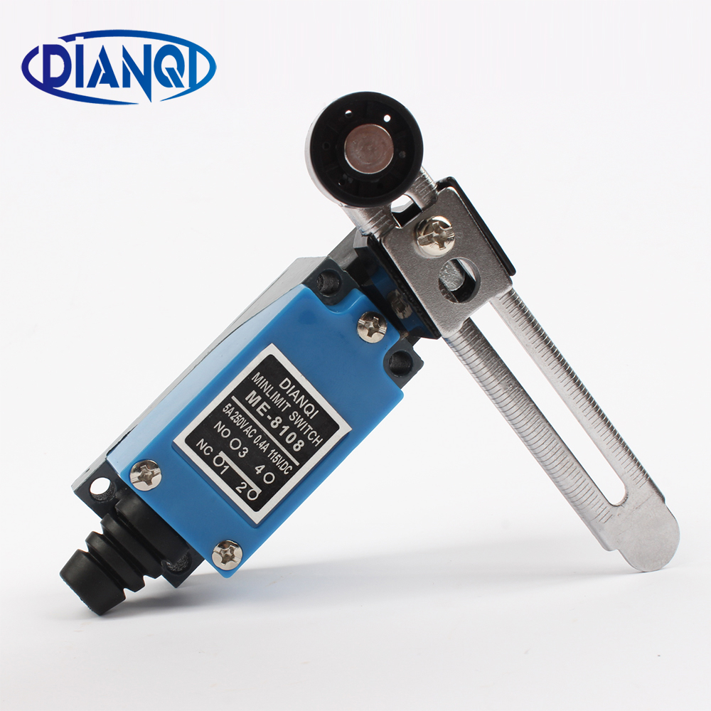 ME ME-8108 limit switch Rotary Adjustable Roller Lever Arm Mini Limit Switches TZ-8108 AC250V 5A NO NC tz 8169 no nc flexible coil spring actuator limit switch for cnc mill plasma