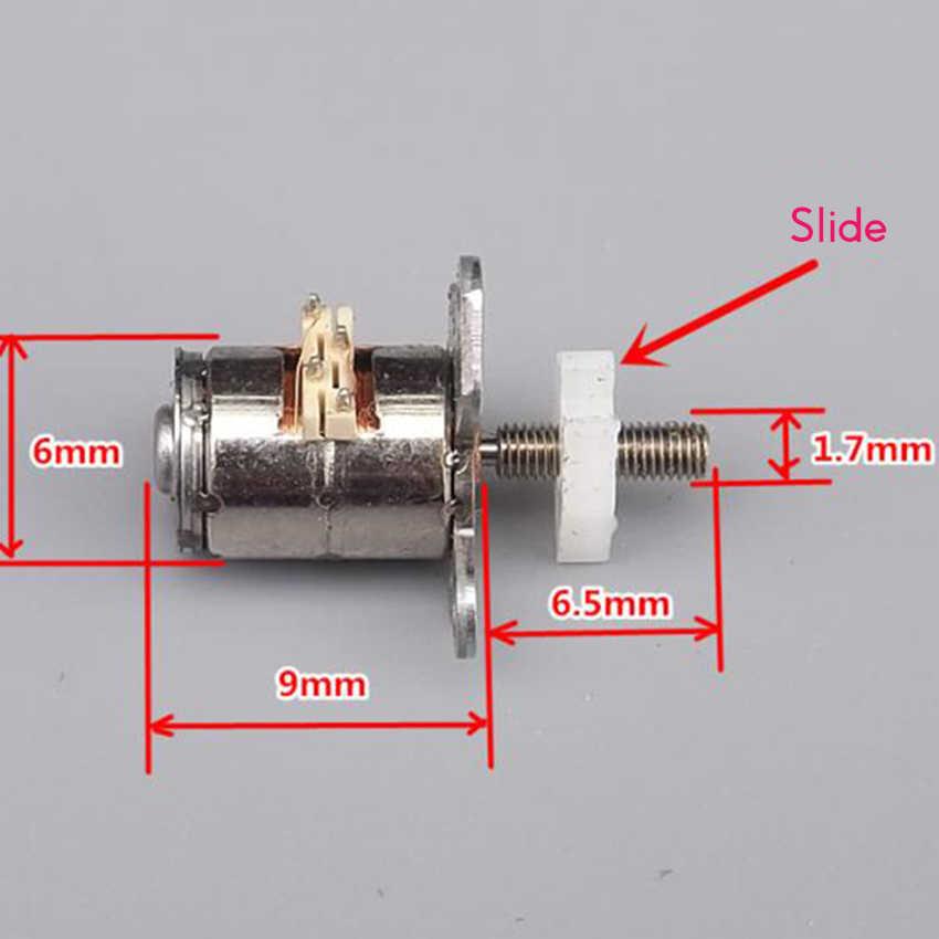 Mini micro motor de passo com deslizante 6mm 2 fase 4 fio motor deslizante 3 v-5 v motor deslizante parafuso slide tabela diy acessórios