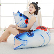 New Giant Shark Plush fish head Whale Stuffed Fish Ocean Animals Kawaii Doll Toys For Children Kids Cartoon Toy Baby Gift