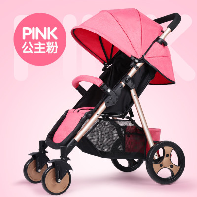 Multi-functional baby stroller can be used for reclining and folding single-handed car with super shock absorber wheelMulti-functional baby stroller can be used for reclining and folding single-handed car with super shock absorber wheel