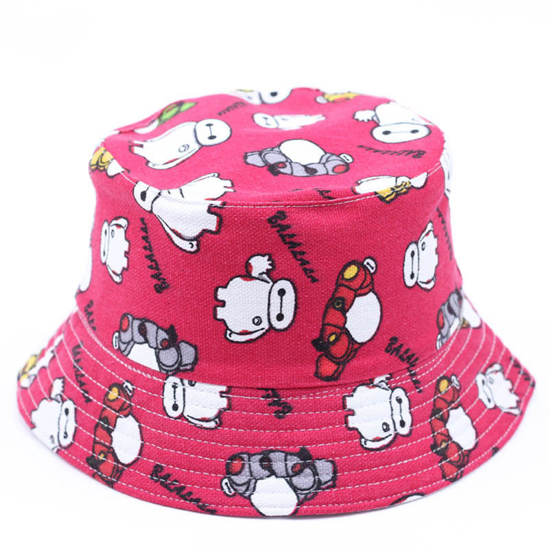Summer Children Girl Sun hat boy Cool Flat hat Cartoon Printed Outdoor Cap Panama Cap Chapeau Cotton hat
