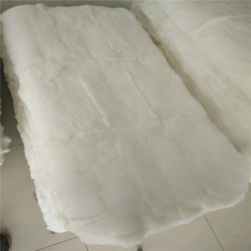 Pure white 100% genuine rabbit fur rug 50*100 cm , rabbit fur <font><b>bed</b></font> sheet,twin size fur mattress, DIY rabbit fur material