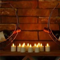 Conjunto de 6 Recarregável Luz do Chá Vela Dança Chama Realista marfim Âmbar Luz de Vela com Aconchegante e confortável Perfeito para Casa decoração
