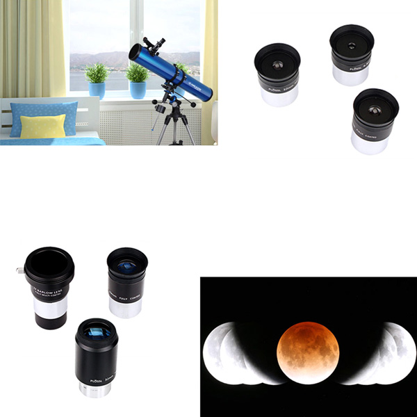 1.25 Eyepiece Set PLOSSL Fully HD Coated 5 Eyepiece +2X Barlow Lens (9)