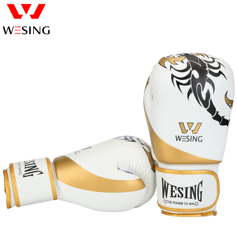 Wesing Handschuhe <font><b>Boxing</b></font> Handschuhe manoplas boxeo Training Punch Mitts luva boxe guantes boxeo Sanda Muay Thai Handschuhe image