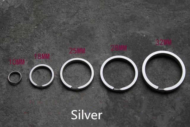Silver Titanium Alloy EDC Ultra Light Key Hanging Key Ring Diy Accessories Key Chain Clip Keychain Multi Tools