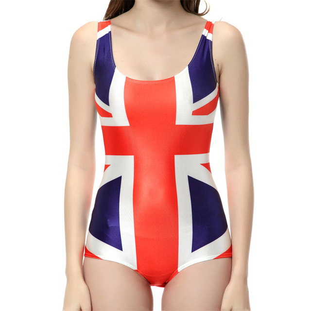 7d4fc5b03b NEW 1146 Sexy Girl Summer Canada Brazil union jack UK flag 3D Prints One- piece