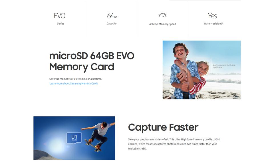 MicroSDHC EVO Memory Card 64GB (2)