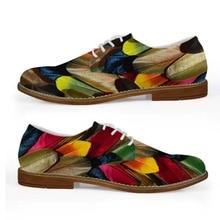 Бесшумные Дизайнерские Мужские модельные туфли в деловом стиле; цветные мужские повседневные кожаные туфли-оксфорды с принтом птичьих перьев; обувь для отдыха на плоской подошве со шнуровкой для мальчиков