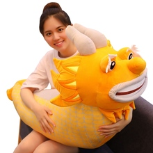 Lovely 1pc 35-70cm New  Style Big Fashion Smile Cartoon Dragon Cute Doll Plush Toys Pillow dolls gift for Children&Kids Hot