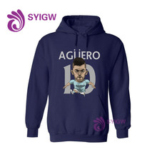 New Kun Aguero Printed Hoodies Men Women Sweatshirts Funny Hooded Pullover Animal Hip Hop Tracksuit 0106-36(China)