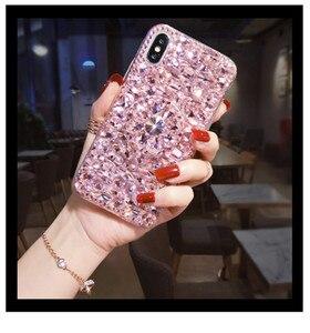 Image 4 - Caso de telefone luxo bling cristal diamantes 3d pedras suporte macio capa traseira para huawei p20 p30 p40 lite plus mate 20 30 lite pro
