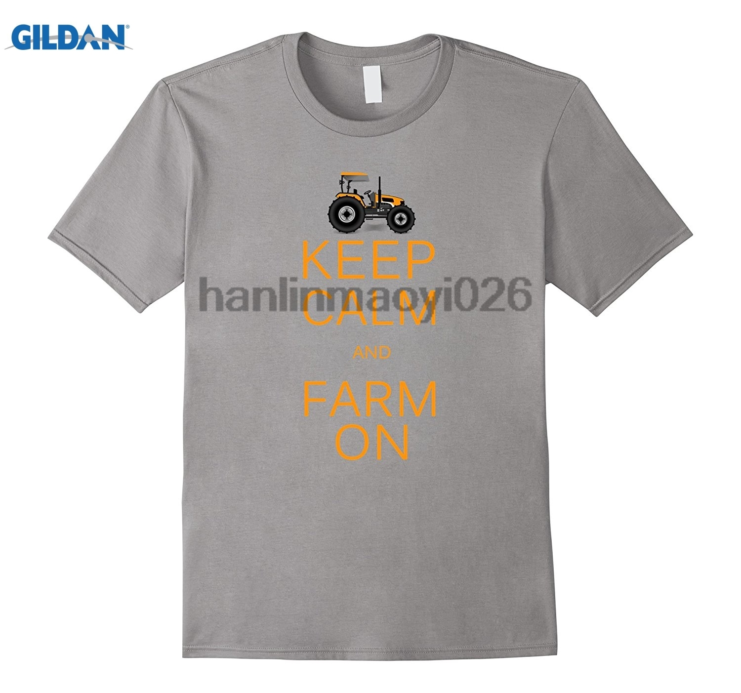 GILDAN Keep Calm And Farm On Cool Fathers Day Tshirt