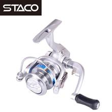 STACO 10 Ball Bearings Spinning Fishing Reel 5.2:1 Mini Reel Carp Fishing Wheel pesca Carp Small Reel For Lake River carretilha