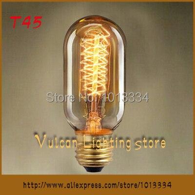 Retro Light E27 Household Incandescent Bulb Edison Mouth Clic Super Large Decorative Bulbs T45