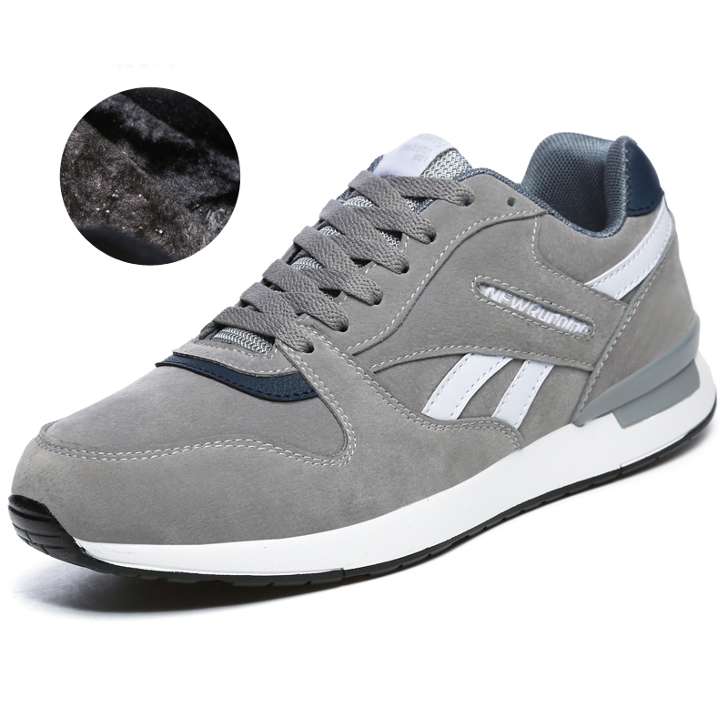 Unisex Running Shoes For Men Women Winter Warm Sport Sneakers Black Gray Mens Trainers Athletic Shoes Brand Jogging Shoes image