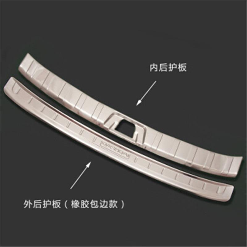 Accessoires de voiture en acier inoxydable protecteur de pare-chocs arrière bas de coffre garniture de plaque de bande de roulement pour Nissan Qashqai J11 2016-2018 style de voiture