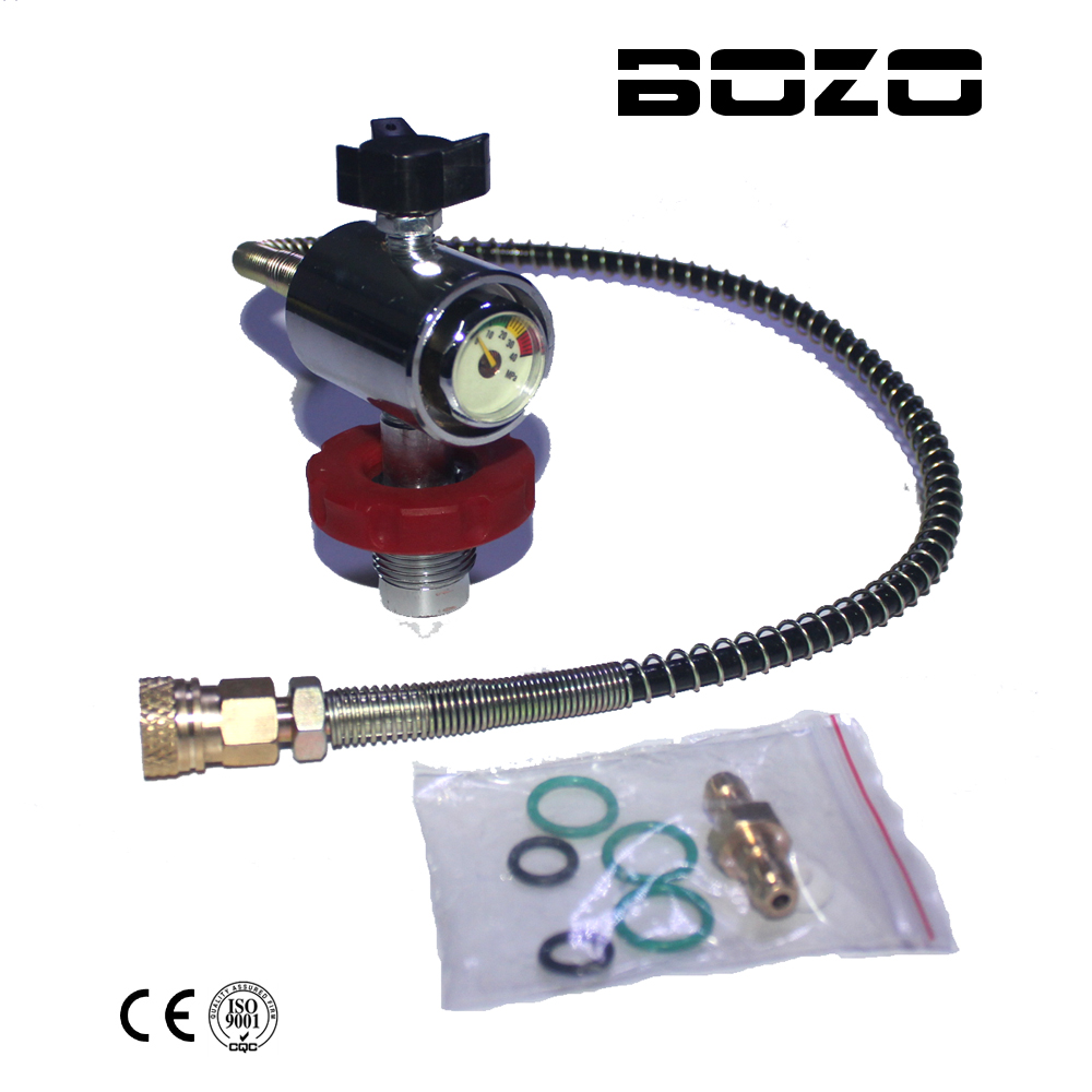 PCP Scuba Diving Valve CO2 Filling Station for Carbon Fiber Cylinder Air Inflation to Paintball Small HPA Tank Refill Adapter