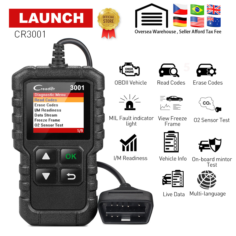 NEW 100/% Genuine Launch OBD2 EOBD 16 Pin Main Test Cable For Creader VII VIII