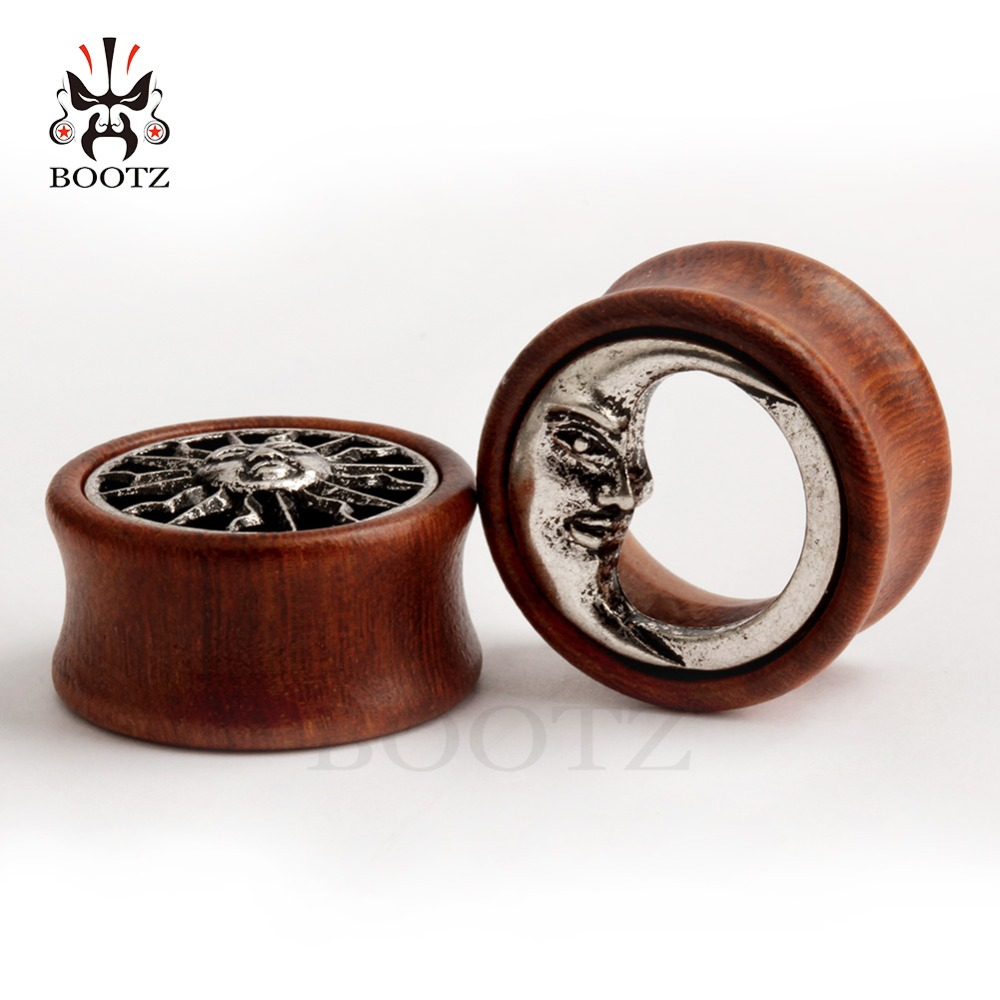 KUBOOZ 2PCS Ασύμμετρη Ξύλο αυτί Piercing - Κοσμήματα μόδας - Φωτογραφία 6