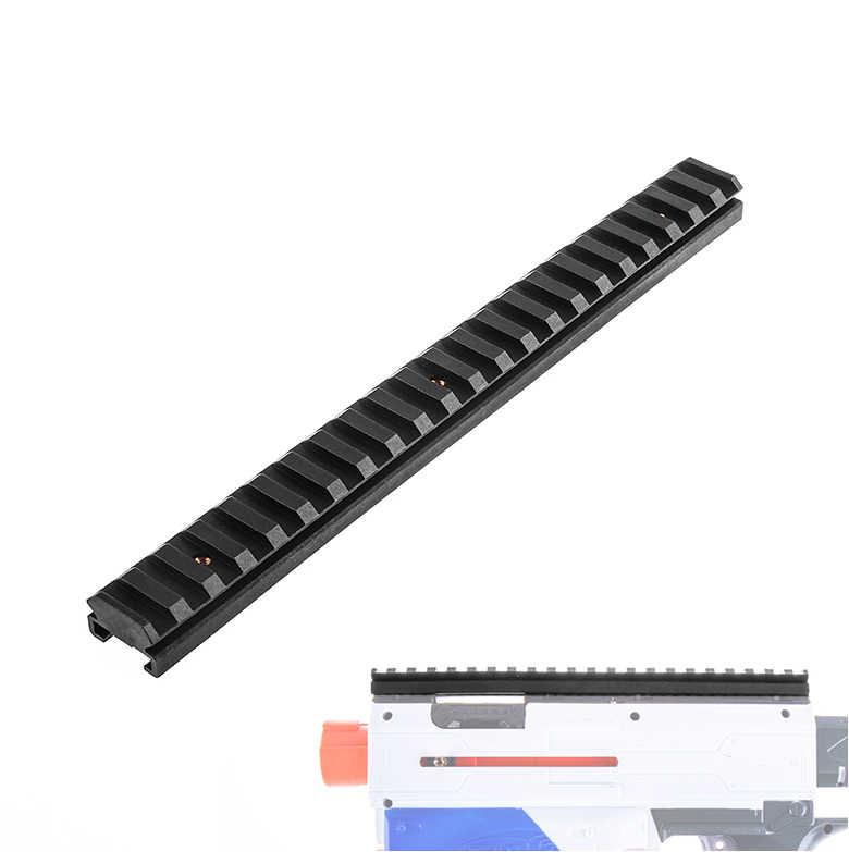Işçi Mod 3/5/7/10/15/16/19/22 CM Picatinny ray dağı nerf Blasters değiştirmek oyuncak renk siyah