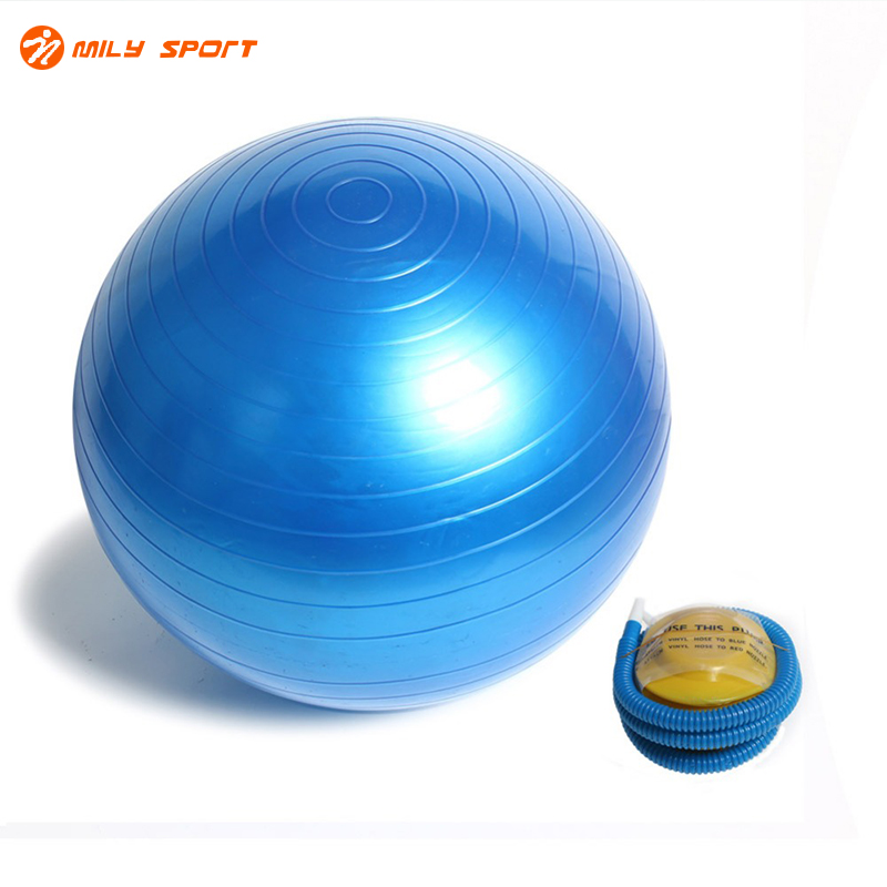 45CM Sports Fitness Yoga Ball Smooth Durable Gym Exercise Body-building Core Workout Balls Pilates Balance Balls With Air Pump ...