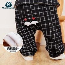 109d148d722cb Mini Balabala Nouveau-Né Bébé Garçons pantalon pour fille Automne-Hiver  Tricoté Coton leggings