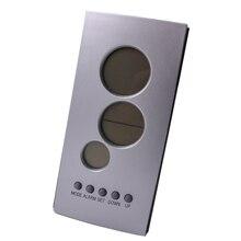 Бесплатная доставка, цифровой электронный термометр, крытый термометр с часами