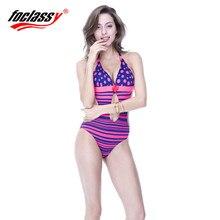 Foclassy one piece Swimsuit 2017 Swimwear women Women's swimming bathing suit Bandeau Bather Bathingsuit Beach Wear monokini